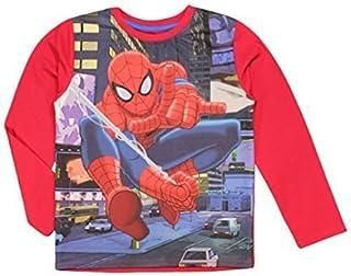 Spiderman Camiseta de manga larga para niños, color rojo