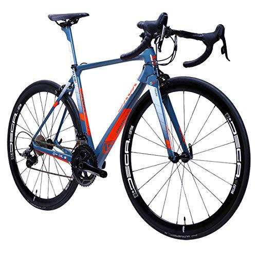MICAKO Kohlefaser Rennrad 700C Rennräder Fahrrad mit 22 Speed Schaltgruppe 700C Reifen,5,49cm