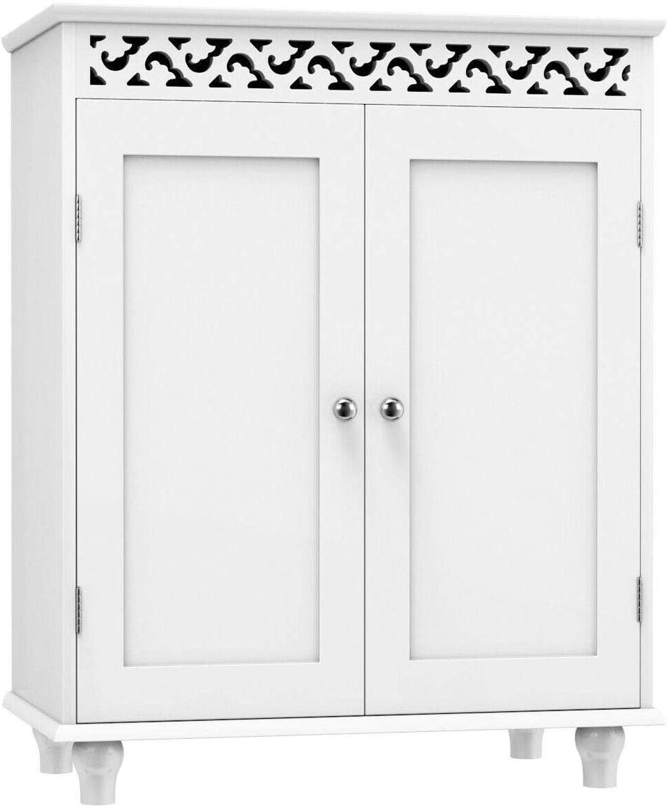 Casart Home Storage Jacksonville Mall Cabinet Wooden Modern S Max 74% OFF Floor Free