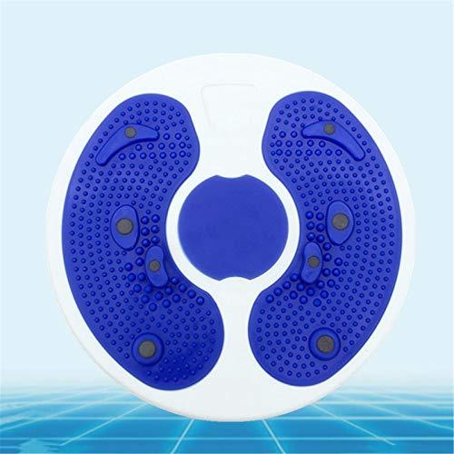 SHDT Disco De Cintura Giratoria para Yoga, Máquina Giratoria, Tabla Giratoria para Moldear El Cuerpo, Adelgazamiento para Entrenar Piernas Caderas, Tabla Giratoria De Equilibrio para Ejercicio,Azul