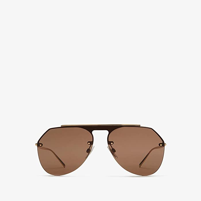 Dolce and Gabbana  DG2213 (Gold/Brown) Fashion Sunglasses