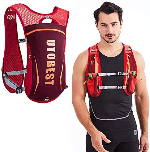 UTOBEST Hydration Pack Backpack Lightweight Hydration Vest for Women Men Trail Running 5L Red product image