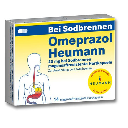 OMEPRAZOL Heumann 20 mg b.Sodbr.magensaftr.Hartk., 1x14 St