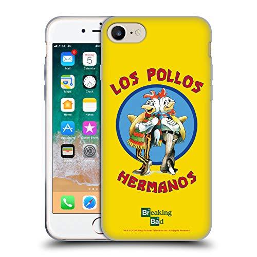 Head Case Designs Licenza Ufficiale Breaking Bad Los Pollos Hermanos Grafiche Cover in Morbido Gel Compatibile con Apple iPhone 7 / iPhone 8 / iPhone SE 2020