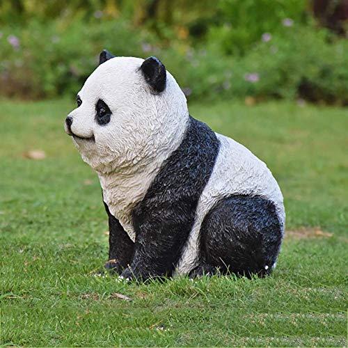 ZYYH Simulation Panda Garden Sculpture,Outdoor Animal Art Ornaments,Waterproof Figurine Garden Decoration For Lawn,Patio E 34x26x35cm(13x10x14inch)
