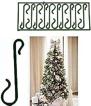 takestop® 400 Ganci Verdi per Appendere Palline E Decorazioni Natalizie Albero di Natale Gancetti