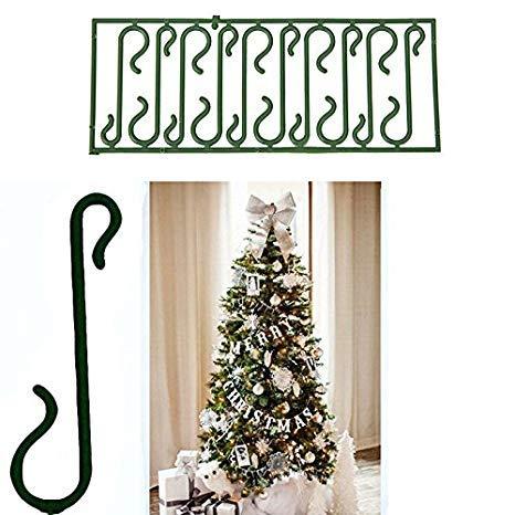 takestop 200 Ganci Verdi per Appendere Palline E Decorazioni Natalizie Albero di Natale Gancetti