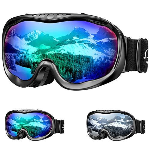 ENKEEO Gafas de Esquí Lente Doble Anti-Vaho 100% UV400 Protección Ski...