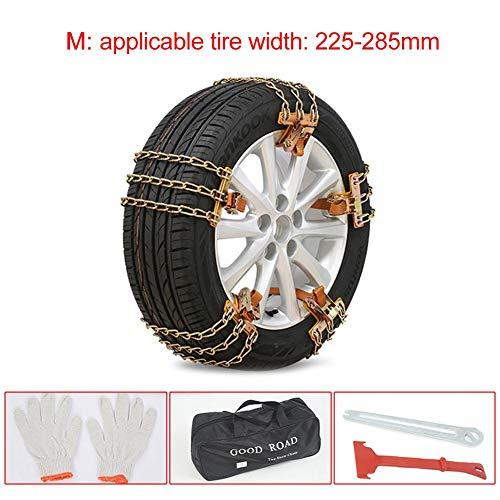 Schneekette, Universal-Schnee-Kette Reifen Sicherheitskette, Gebrauchtwagen für Auto-SUV LKW auf EIS und Schnee Straßen, Geeignet für Reifenbreite 165mm-285mm