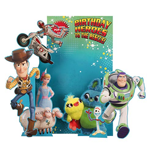 Toy Story 4 Birthday Card for Kids from Hallmark - 3D Pop-Out Design