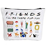 Friends Quotes Makeup Cosmetic Bag Zipper Pouch - Friends TV Show Cosmetic Travel Bag Toiletry Make-Up Case Multifunction Pouch Gifts for Friends Fan/ Women/Sister (Red)
