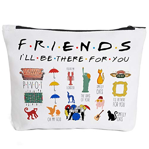 Friends Quotes Makeup Cosmetic Bag Zipper Pouch - Friends TV Show Cosmetic Travel Bag Toiletry Make-Up Case Multifunction Pouch for Friends Fan/ Women/Sister