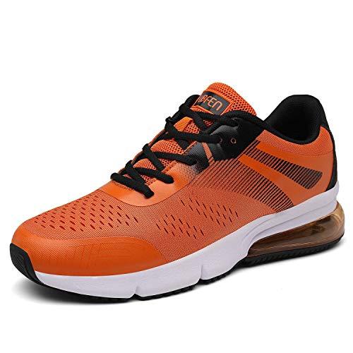 SOLLOMENSI Sportschuhe Laufschuhe Damen Herren Retwin Turnschuhe Straßenlaufschuhe mit Snake Optik Sneaker 43 EU C Orange