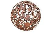 Kugel Magnolien Metall Edelrost Rost Rostkugel Deko Dekoration Deko-Idee Dekokugel Rostdeko Gartendeko Geschenk-Idee Geschenk