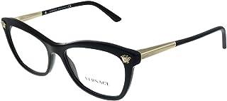 Versace VE 3224 GB1 Black Plastic Cat-eye Eyeglasses 54mm