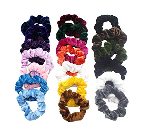 45 Stück Haargummis Mädchen,Haar Scrunchies Samt Elastische Haarbänder Halter Stirnbänder Seile Haarschleife Haarband Peeling Gummibänder Haar Scrunchies Für Damen Mädchen (20 Stück, Multicolor)