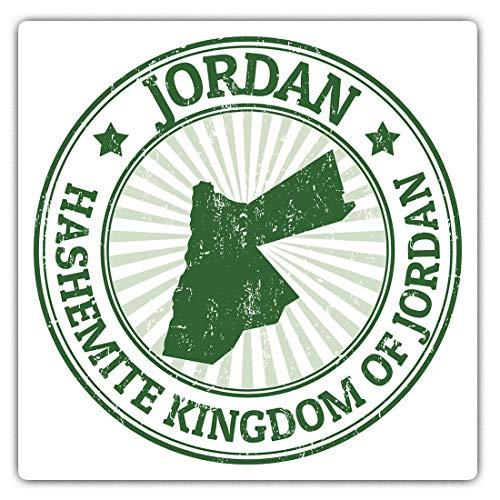 Pegatinas cuadradas impresionantes (juego de 2) 10 cm – Hashemite Kingdom Jordania Oriente Medio...