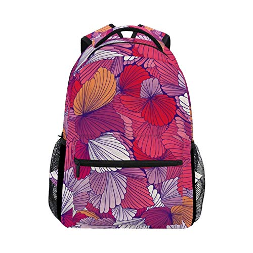 DOUBLE Shoulder Bag Sea Ocean Floral Seashells Daypack Laptop Travel Casual Gift Backpack Student College Printed School Bag Book for Men Boys Girls Women Kids