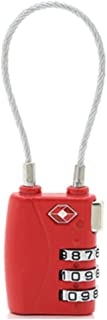 DONJON TSA Approved Travel Luggage Locks, 3-Digit Combination Security Cable Padlock-(blue) (TSA-lock)