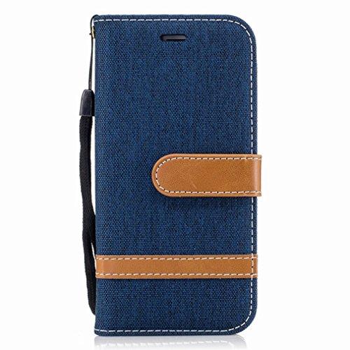 Yiizy Apple iPhone 6s Plus/iPhone 6 Plus Cover Custodia, Modello del Cowboy Silicone Custodia Cover Portafoglio PU Pelle Cuoio Copertura Schede Cavalletto Stile Libro Protettivo Borsa (Azzurro)