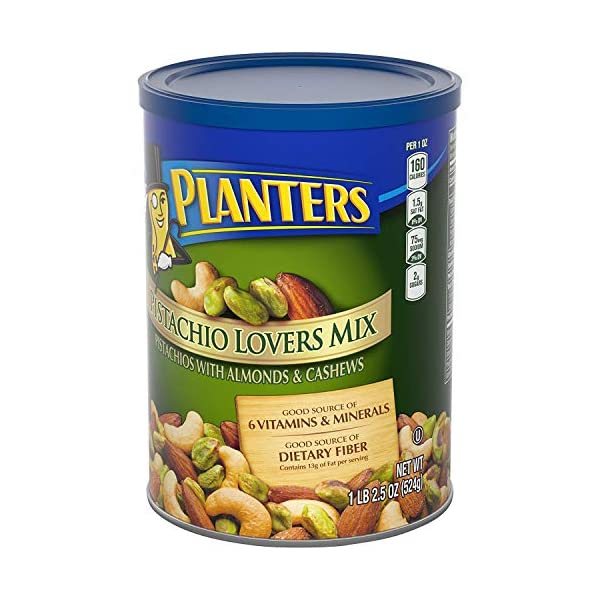 Health Shopping PLANTERS Pistachio Lover's Mix, 1.15 lb. Resealable Canister