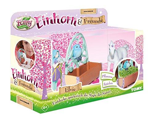 Einhorn & Freunde, das TOMY My Fairy Garden Erweiterungsset mit Kressesamen zum selber Pflanzen & Spielen. Entzückendes Pflanzset zum Selbstgestalten für Kinder ab 4 Jahren, mit Fee & Einhornfohlen
