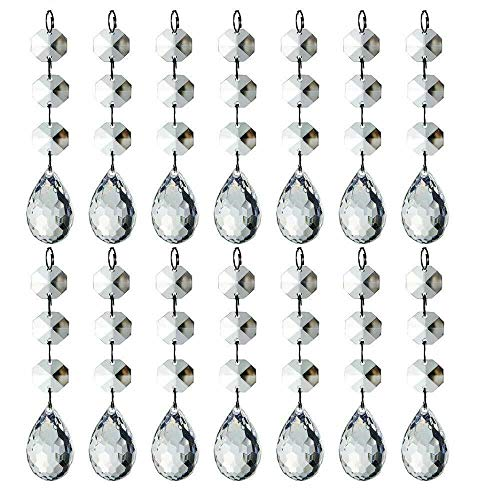 HOHIYA Acrylic Crystal Christmas Ornament Drop Ball Tree Decorations(Clear,Pack of 30)