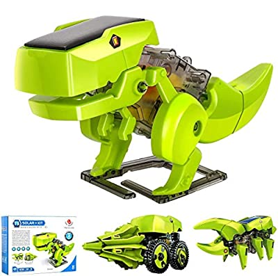 M SANMERSEN Solar Robot Kit 3 in 1 STEM Educational Toys DIY Dinosaurs Toys Science Kits for Kids Build and Learn Toy