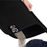 Gorilla Grip Original Premium Durable Cat Litter Trapper Mat, 30x24 inches, Water Resistant, Honeycomb Mats Trap Litter from Box and Cats, Scatter Control, Soft on Kitty Paws, Easy Clean, Black