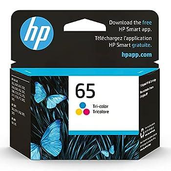 Original HP 65 Tri-color Ink Cartridge   Works with HP AMP 100 Series HP DeskJet 2600 3700 Series HP ENVY 5000 Series   Eligible for Instant Ink   N9K01AN 1-Pack