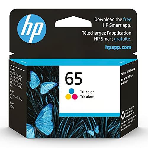 HP 65 | Ink Cartridge | Tri-color | Works with HP DeskJet 2600 Series, 3700 Series, HP ENVY 5000 Series, HP AMP 100, 120, 125, 130 | N9K01AN