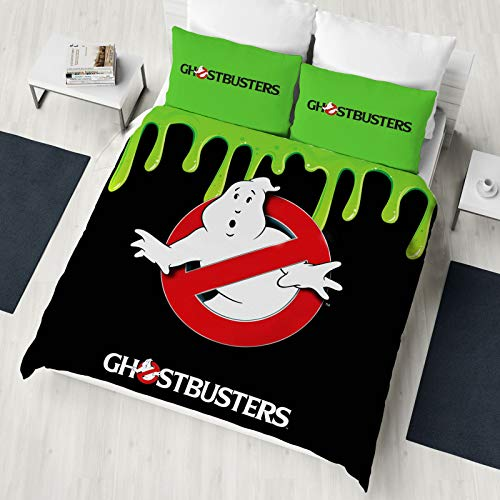 Ghostbusters Glow in the Dark Single/Double Duvet Cover Reversible Bedding Set (Double Duvet Cover)