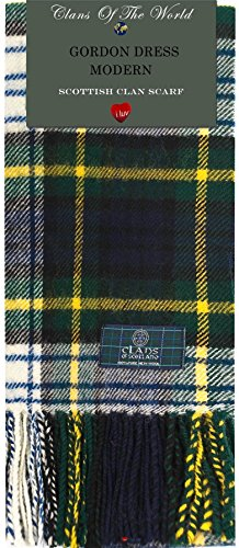 I Luv Ltd Gordon Dress Modern Tartan Clan Scarf 100% Soft Lambswool