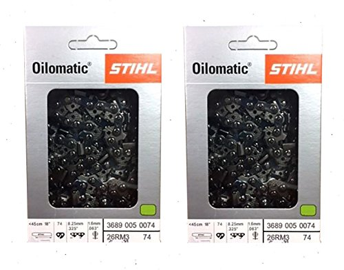 STIHL 26RM3-74 Oilomatic Rapid Micro 3 Saw Chain, 18' 3689 005 0074 - 2 Pack