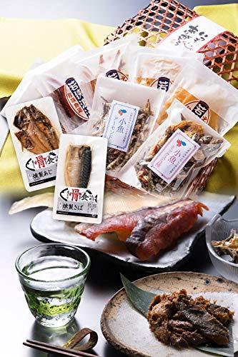 おつまみ 9種 竹かご のどぐろ 珍味 おつまみセット 小袋 人気 詰め合わせ 【通常便】 えいひれ スルメ 海鮮 手土産 プレゼント ギフト 越前宝や