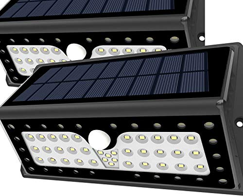 Solar Lights, Lampat Bright 62 LED Solar Powered Security Lights Waterproof Outdoor Motion Sensor Lighting for Wall , Patio, Garden, Landscape, Deck, Shed, Lawn, 2 Pack