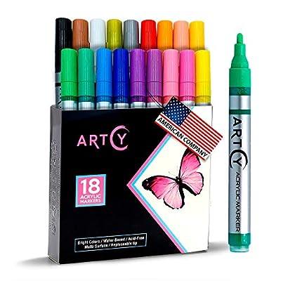Acrylic Paint Pens - 18 Acrylic Paint Markers M...