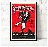 ZOEOPR Leinwand Poster Frankenstein Filmplakat Klassiker