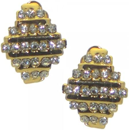 FRANCOISE gold plated crystal clip on earrings