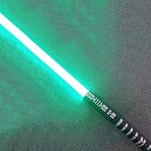 gengyouyuan - Sable de luz con luces y sonido, juguete de Star Wars, para regalo o cosplay, No cambia de color, verde