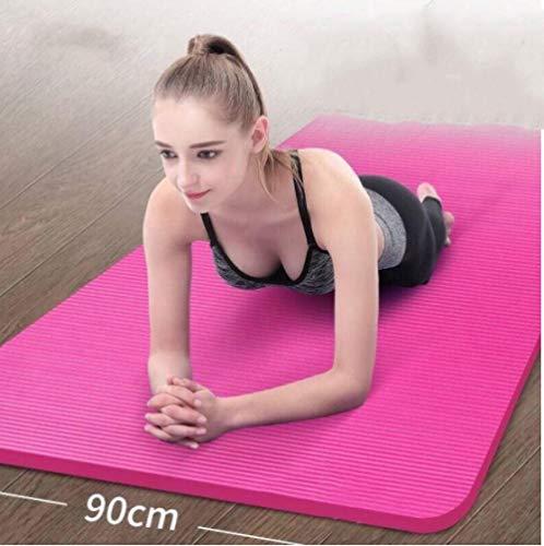 Whytd Doppelte Yogamatte Kinder tanzen üben rutschfeste Verdickung Verbreiterung und Verlängerung-lila 185 * 90_15mm