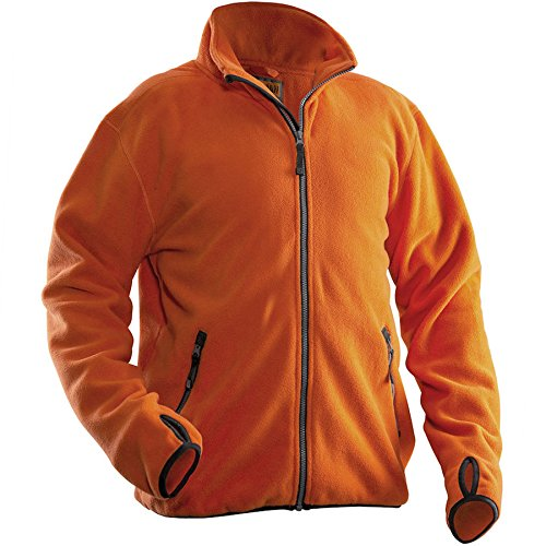 Jobman 550175-3000-9 Fleece Jacke in orange Größe 3XL