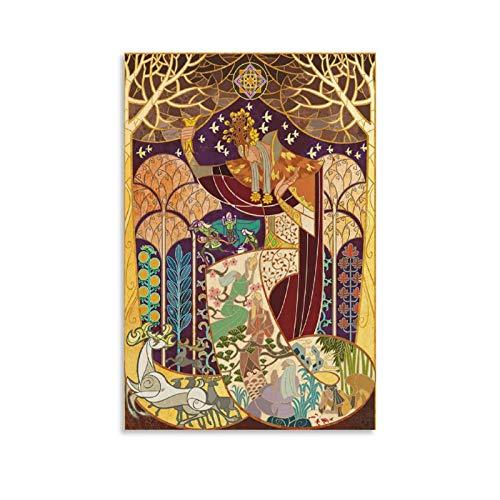 HUAIREN Forest King Thranduil – Herr der Ringe – Hobbit Vintage Poster Drucke Dekor Geschenk Leinwand Wand Kunst für Zimmer Dekor Familie Schlafzimmer Badezimmer Ästhetisches Poster 30 x 45 cm