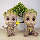 Baby Groot Blumentopf, Action-Figur aus Guardians of The Galaxy für Pflanzen & Stiftköcher Crafts...