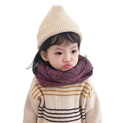 MK Matt Keely Schal für Kinder, Jungen und Mädchen, Halswärmer für den Winter Gr. Einheitsgröße, rote streifen