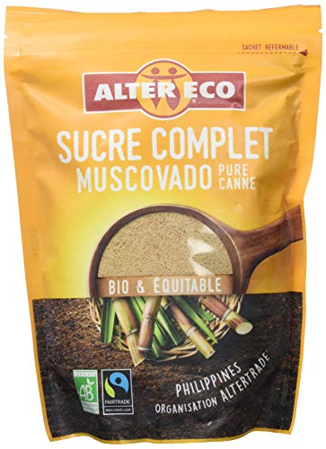 Alter Eco Sucre Complet Muscovado Bio et Equitable 500 g