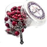 Tienda Nazareth Rosario con olor a rosa Pétalo Rojo Cuentas raras talladas Medalla de Jerusalén y...