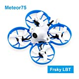 BETAFPV Meteor75 Frsky LBT 1S Brushless Whoop Drone with F4 1-2S AIO FC BT2.0 Connector 1102 18000KV Motor M01 AIO Camera for Tiny Whoop Micro FPV Racing Whoop Drone Quadcopter