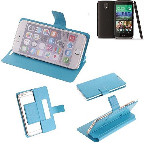 K-S-Trade Flipcover für HTC Desire 526G Dual SIM Schutz Hülle Schutzhülle Flip Cover Handy case Smartphone Handyhülle blau