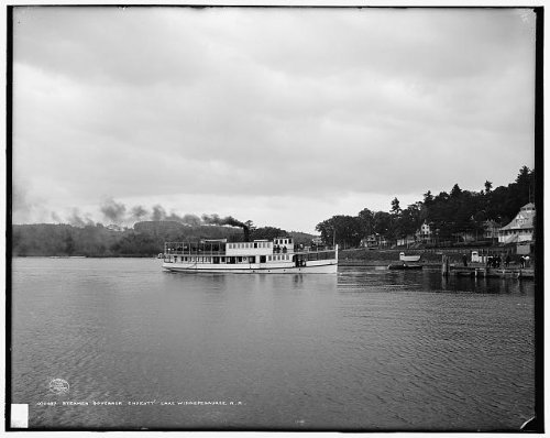 Infinite Photographs Foto: Steamer Gobernador Endicott, Barcos, Barcos, Lago Winnipesaukee, New Hampshire, NH,c1908